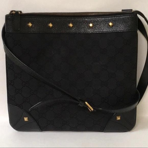 ee078350d6c Gucci Handbags - Authentic Black Gucci studded crossbody messenger